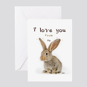 I Love You from Ear to Ear Greeting Cards