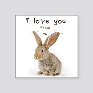 I Love You from Ear to Ear Sticker