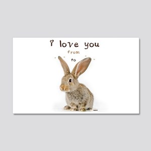 I Love You from Ear to Ear Wall Sticker