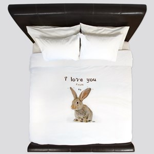 I Love You from Ear to Ear King Duvet