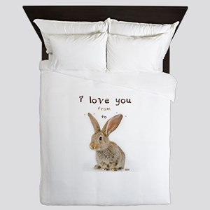 I Love You from Ear to Ear Queen Duvet