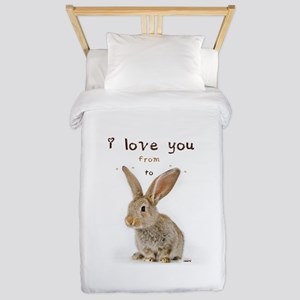 I Love You from Ear to Ear Twin Duvet