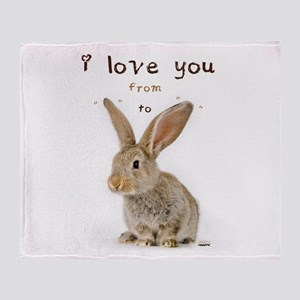I Love You from Ear to Ear Throw Blanket