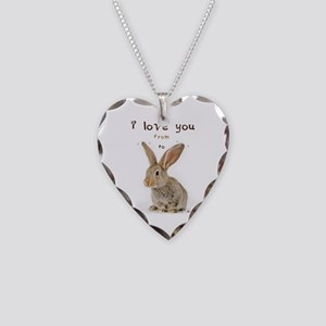 I Love You from Ear to Ear Necklace Heart Charm