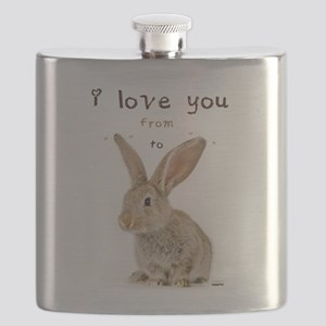 I Love You from Ear to Ear Flask
