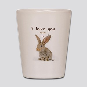 I Love You from Ear to Ear Shot Glass