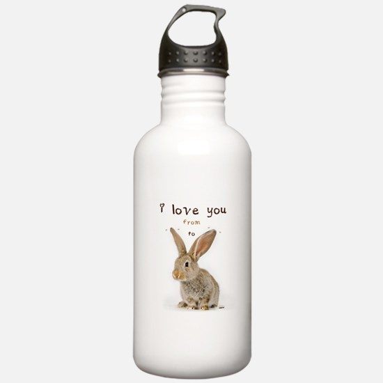 I Love You from Ear to Ear Sports Water Bottle