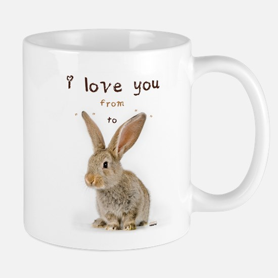 I Love You from Ear to Ear Mugs