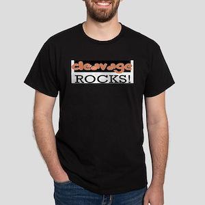 Cleavage Rocks!  Dark T-Shirt