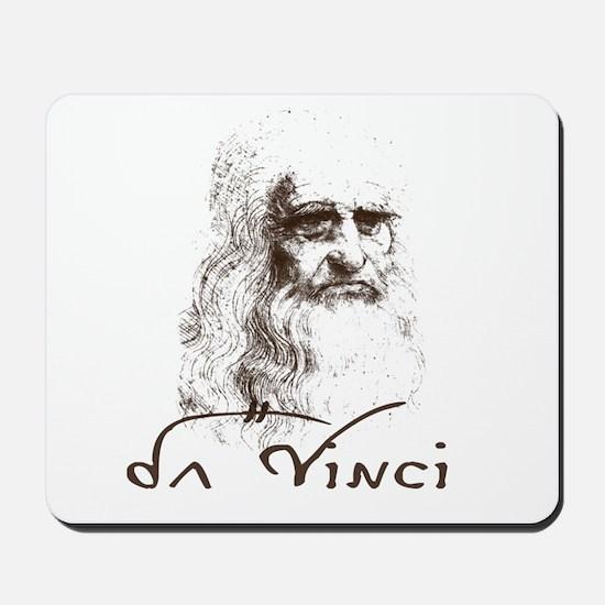Da Vinci Black Mousepad