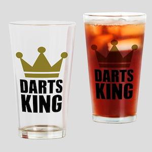 Darts king Drinking Glass