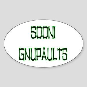 SOONI GNUPAULTS Oval Sticker