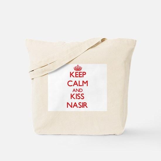 Keep Calm and Kiss Nasir Tote Bag