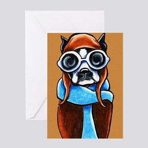 Boston Terrier CoPilot Greeting Cards