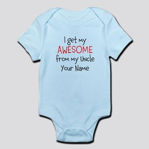 Funny uncle baby clothes accessories cafepress i get my awesome from my uncle custom body suit negle Gallery