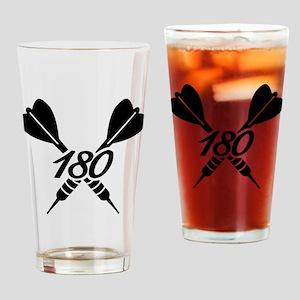 Darts 180 Drinking Glass