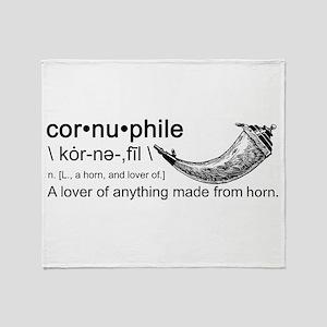 Cornuphile Throw Blanket