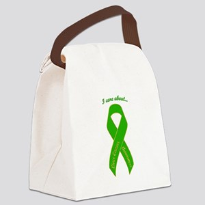 I Care About Liver Cancer Canvas Lunch Bag