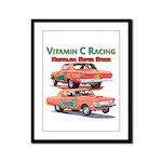 Vitamin C Racing Framed Panel Print