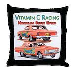 Vitamin C Racing Throw Pillow
