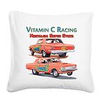 Vitamin C Racing Square Canvas Pillow
