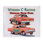 Vitamin C Racing Throw Blanket