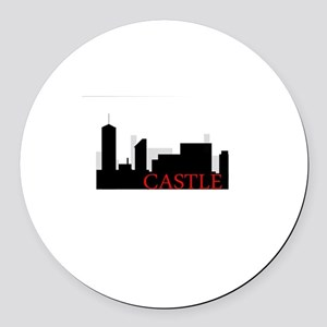 Castle NYC Round Car Magnet