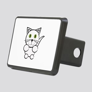 White Kitty Cat Hitch Cover
