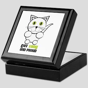 Cat Lady And Proud Keepsake Box