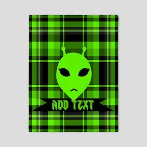 Alien Face Plaid Twin Duvet