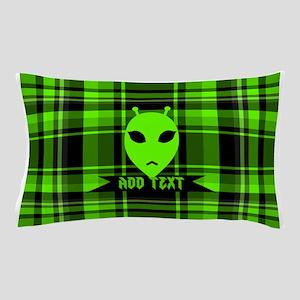 Alien Face Plaid Pillow Case