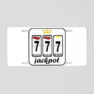 Lucky 7 jackpot Aluminum License Plate