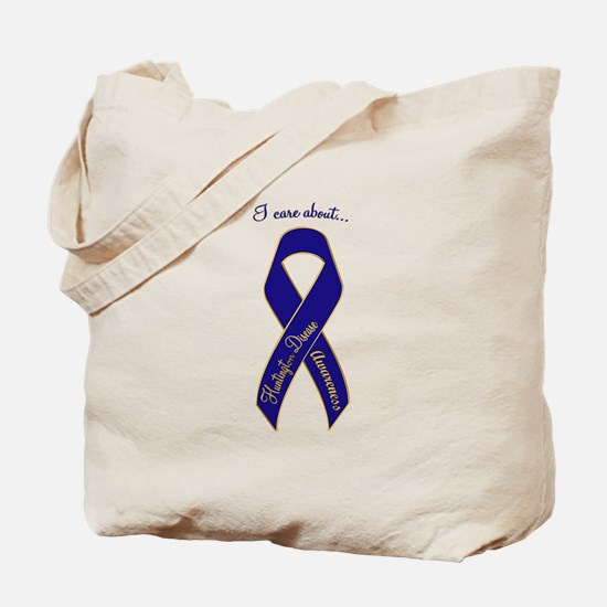 I Care About Huntington's Disease Tote Bag