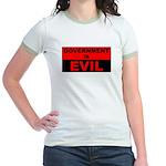 Government is Evil Jr. Ringer T-Shirt