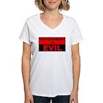 Government is Evil Women's V-Neck T-Shirt