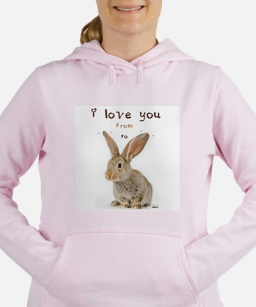 I Love You from Ear to Ear Women's Hooded Sweatshi