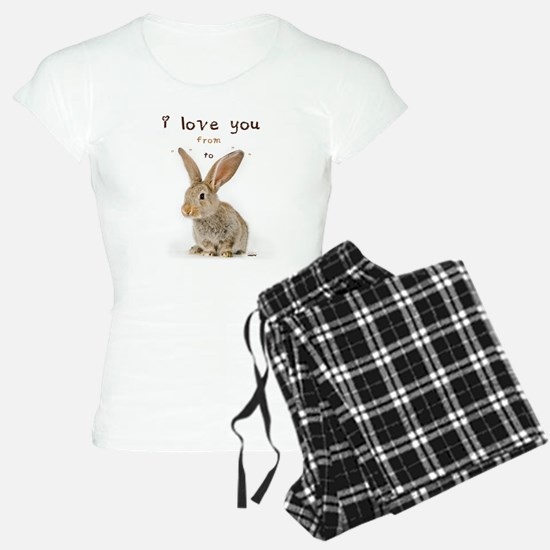 I Love You from Ear to Ear pajamas