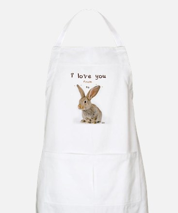 I Love You from Ear to Ear Apron