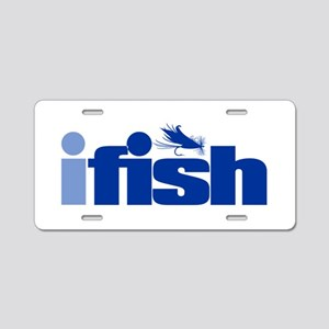 ifish (fly) Aluminum License Plate