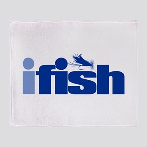ifish (fly) Throw Blanket