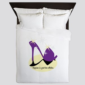 Happiness Is A Great Shoe Collection Queen Duvet
