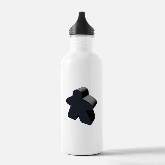 Black Meeple Water Bottle
