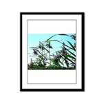 Hay in the summer Framed Panel Print
