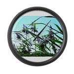 Hay in the summer Large Wall Clock