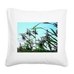 Hay in the summer Square Canvas Pillow