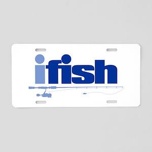 ifish (rod) Aluminum License Plate