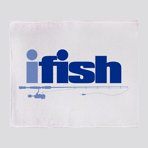 ifish (rod) Throw Blanket