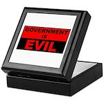Government is Evil Keepsake Box