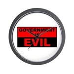 Government is Evil Wall Clock