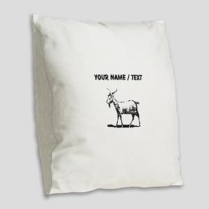 Custom Goat Burlap Throw Pillow
